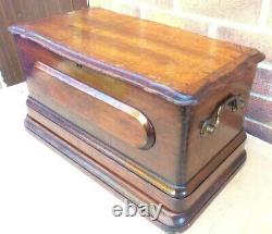 Antique Bradbury Fiddle Base Handcrank Machine À Coudre
