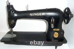 Antique Industriel Singer 31k32 Heavy Duty Machine À Coudre Denim Toile En Cuir