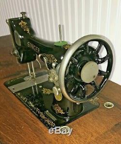 Antique Machine À Coudre Chanteur 1910 Treadle Écosse F2313991- Magnifique
