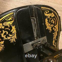 Antique Singer 12k New Family Fiddle Base Avec Décalcomanies Acanthus 1885