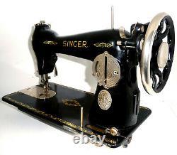 Antique Singer 15k Nickel Plaqué Spécial Machine À Coudre Cuir Rare Vintage Vtg