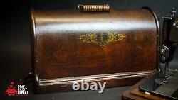 Antique Singer 1893 Machine À Coudre Avec Boîtier En Bois Sans Uk Pp