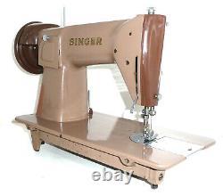Antique Singer 191k1 Machine À Coudre Vintage Denim En Toile De Cuir Lourd