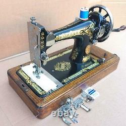 Antique Singer 28, 28k Machine À Coudre Les Mains