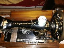 Antique Singer 28 Ou 28k Couture Machine De Travail 1897 Victorienne Décalques