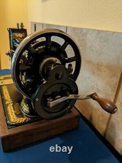Antique Singer 28k Main Cran Machine À Coudre 1917 Clean Tested Works Great