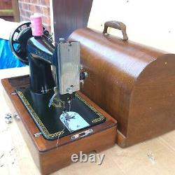 Antique Singer 99, 99k Hand Manivelle Machine À Coudre