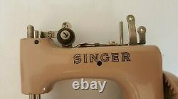 Antique Singer Child Sewhandy 1953 No. 20 Couvercle De Transport De Machine À Coudre À Portée De Main