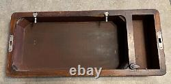 Antique Singer Machine À Coudre Bentwood Case Full Size 201, 15-91 66 Withkey, Vgc