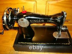 Antique Singer Machine À Coudre Modèle 15-90, Manivelle De Main, Desservi