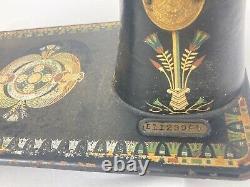 Antique Singer Machine À Coudre Modèle 66 Lotus Decal Pattern Head Ne Nécessite Que De L'huile