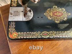 Antique Singer Machine À Coudre Red Eye Treadle Head 66 G34766724