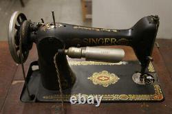 Antique Singer Modèle 66 Redeye Machine À Coudre - 6 Tiroir Treadle Cabinet
