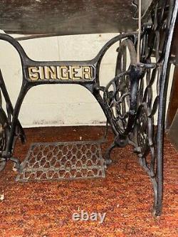 Antique Singer Sphinx Treadle Machine À Coudre 1913