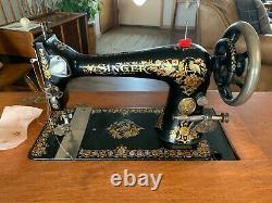 Antique Singer Tapis Machine À Coudre Excellent État
