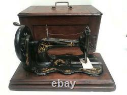Antique Singer'nouvelle Famille' 12k Fiddle Base Sewing Machine C1883 7114