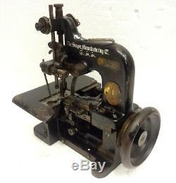 Antique Ultra Rare Modèle Chanteur 85-10 Machine À Coudre Surjeteuse 1925 Voir Circa