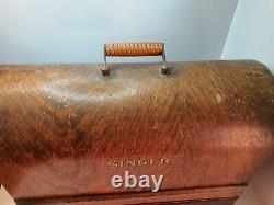 Antique Vintage Electric Singer Machine À Coudre Avec Étui Et Accessoires Y3785648