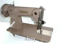 Antique Vintage Singer 15b Machine À Coudre En Cuir Denim Toile 15k 201k