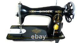 Antique Vintage Singer 15k Raf Couture Machine À Coudre Denim Toile Menthe Rare