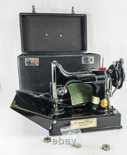 Antique Vintage Singer Featherweight Machine À Coudre 221-1 Carrying Case