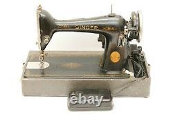 Antique Vintage Singer Model 66 Machine À Coudre Ag 1946 Ceinture Fraîche, Lumière Led