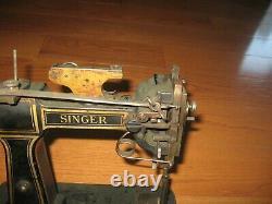 Antique Vintage Singer Pique Machine À Coudre Modèle 46k1 1910 Très Rare