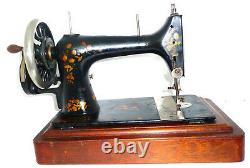 Antique Vintage Singer V. S. 39-2 Machine À Coudre De Navette Vibrante Super Rare Vtg