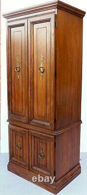 Antique/vtg Singer Model 380 Space Saver Wood Couture Cabinet Home Office Desk