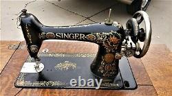 Beautiful Antique 1911 Singer 66-1 Treadle Machine À Coudre 7 Tiroirs Grand Forme