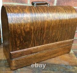 Beautiful Antique Singer 99, 28, 128 Bentwood Sewing Machine Case