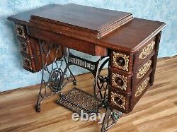 Belle Antique Ornate Vintage 1912 Singer Treadle Machine À Coudre Modèle 127