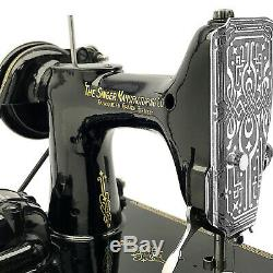 Centennial Singer Poids Plume 221 K1 221k Machine À Coudre Restauré 3fters
