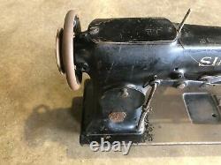 Chanteur 112w110 Black Industrial Couture Machine Twin Needle Antique Vintage