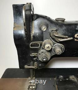Chanteur 112w140 Black Industrial Couture Machine Twin Needle Antique Vintage