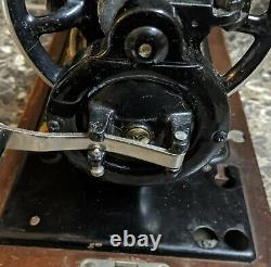 Chanteur 128 Machine À Coudre Antique 1925 La Vencadora Occasion Manivelle Testée