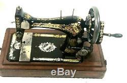 Chanteur Antique 28k Machine À Coudre À Manivelle C1897 Livraison Gratuite 5597