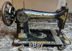 Chanteur Modèle 27 Machine À Coudre Antique 1909 Sphinx