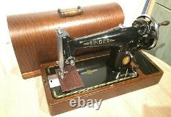 Chanteur Vintage 201k, 201 Machine À Coudre Pour Cuir Manivelle