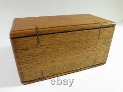 Complète! Antique Singer Machine À Coudre 1889 Boîte À Puzzle Restaurée Et Refaite