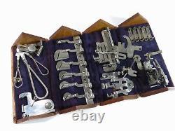 Complète! Machine À Coudre Les Doigts 1889 Chêne Boîte De Puzzle Restauré & Raffiné