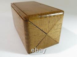 Complète! Rénové Et Réaménagé Singer Machine À Coudre 1889 Oak Puzzle Box