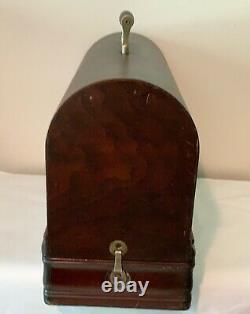 D'origine Classique Singer 15 Machine À Coudre Bent Wood Case