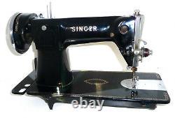 Fine Antique Vintage Singer 15m Couture Machine Toile En Denim En Cuir 15k 201k