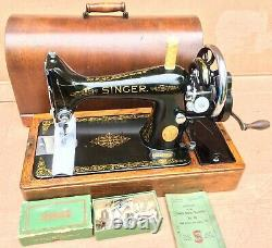 Machine À Coudre À Manivelle 99, 99k Vintage Singer Avec Accessoires Et Boîtier