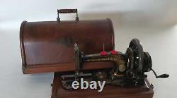 Machine À Coudre Ancienne Singer 128 K Nacre