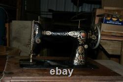 Machine À Coudre Antique Singer Treadle Avec Armoire Et Tiroirs 1916 #g5033646