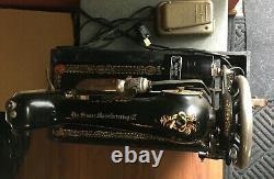 Machine À Coudre Portable Vintage/antique Singer Belle