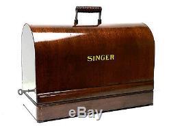 Machine À Coudre Singer Bentwood En Bois Portement Cas 99k 28 128 Vs-3 Restauré