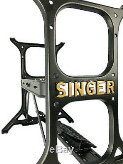 Machine À Coudre Singer Moulage Table Industrielle Support En Fer Jambes Base Par 3fters